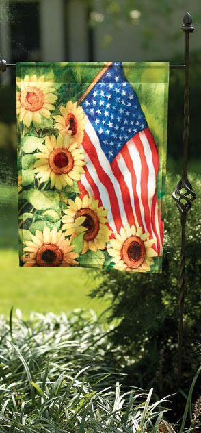 American Sunflowers Outdoor Garden Flag