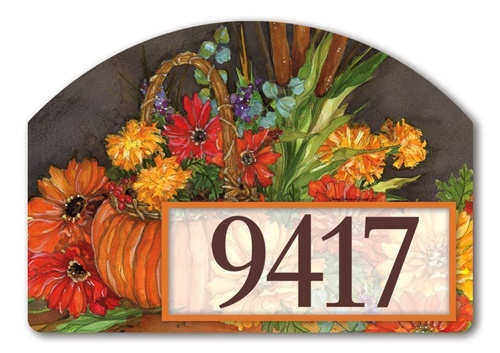 Autumn Tapestry Yard Design Address Sign