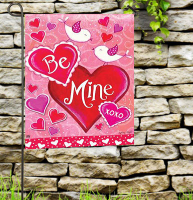 Exceptionnel Be Mind Birds Valentine Garden Flag