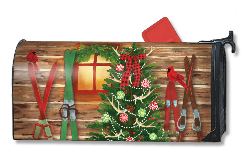 Christmas at the Cabin Mailbox Covers