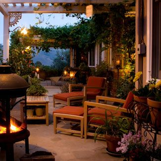 Soft lighting for your porch