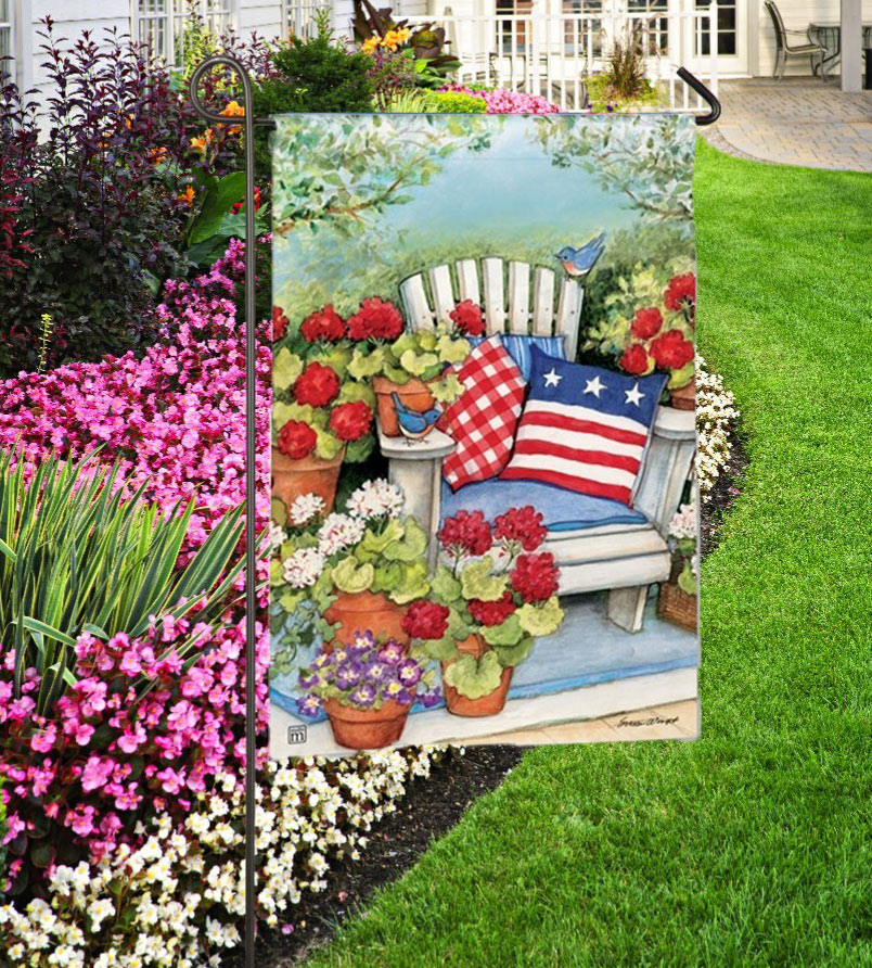 Patriotic Pillows Outdoor Garden Flag
