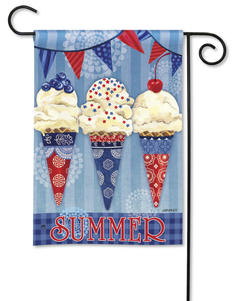 Scoops of Summer Garden Flag