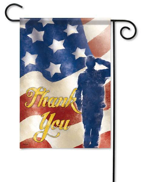 Thank You Veterans Garden Flag
