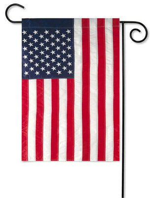 "USA American Flag - Applique - 12.5"" x 18"